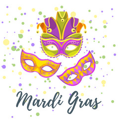Mardi gras greeting card vector