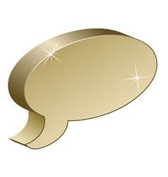Metallic chat box vector