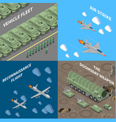 military vehicles 2x2 design concept vector image