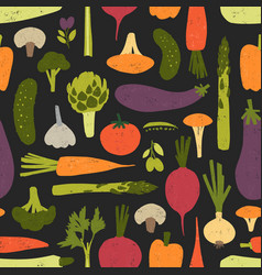modern seamless pattern with fresh delicious vector image