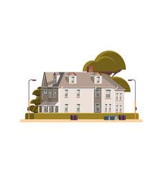 modern town house exterior urban building facade vector image