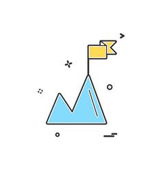 Mountian icon design vector