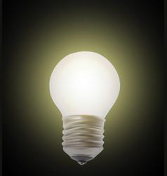 naturalistic lit glowing light bulb lighting on vector image