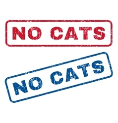 No cats rubber stamps vector