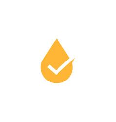 oil tea honey drop check logo icon vector image