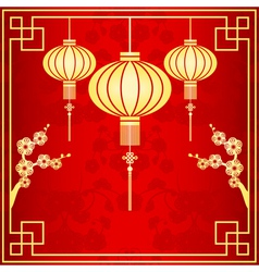 Oriental Chinese Lantern vector image