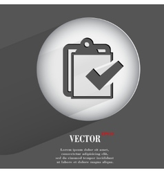Paper pen Flat modern web button with long shadow vector