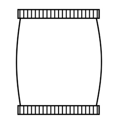 Plastic jar icon outline style vector