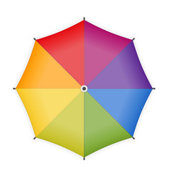 rainbow umbrella icon vector image