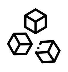 Refined sugar icon outline vector