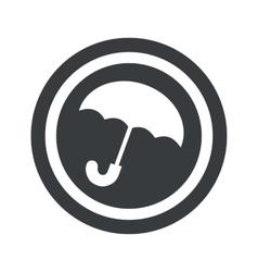 Round black umbrella sign vector
