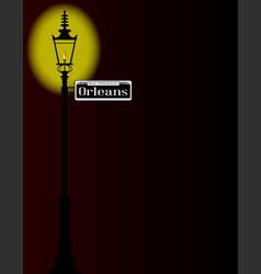 rue dorleans sign with lamp vector image