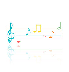 set color music note symbols abstract music vector image