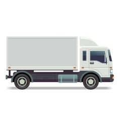 Small truck van isolated on white vector image vector image
