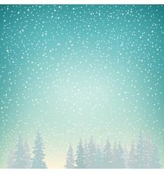 Snowfall snow falls on spruce vector
