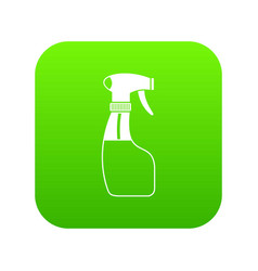 spray icon digital green vector image
