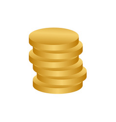 stack of coins logo icon design template vector image
