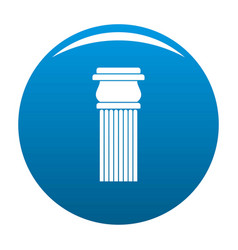 Stone column icon blue vector