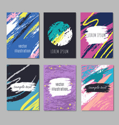 Trendy artistic modern posters with sketch vector