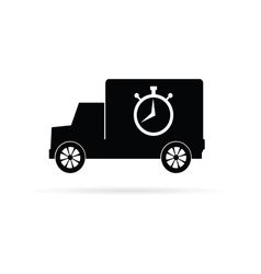 truck with a stopwatch vector image