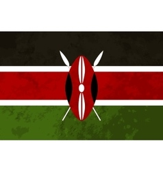 True proportions Kenya flag with texture vector