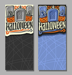 Vertical banners for halloween vector