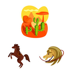 Wild and west symbol set vector