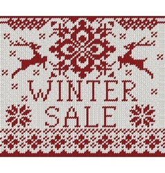 Wintter Sale card vector image