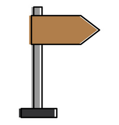 wooden arrow guide label vector image