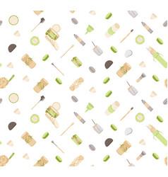 Zero waste seamless pattern in minimalism vector