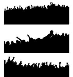crowd variation vector image vector image