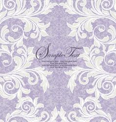 damask wedding invitation vector image vector image