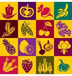 fruitvegetables vector image