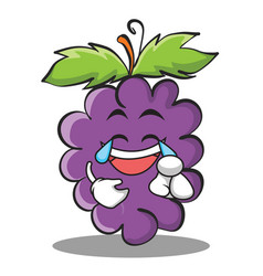 joy grape character cartoon collection vector image