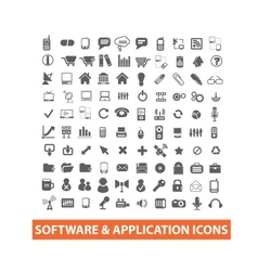 software application icons set vector image vector image