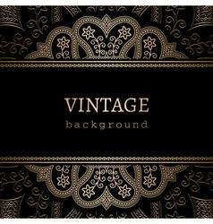 Vintage gold ornamental backround vector image vector image