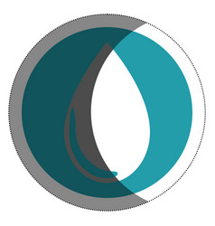 water drop isolated icon vector image