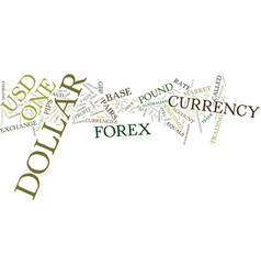 Forex currency pairs text background word cloud vector