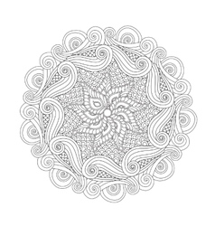 Graphic Abstract Mandala Zentangle inspired style vector image vector image