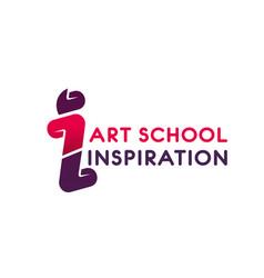 logo for art school vector image vector image