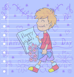 mother day greeting card style vector image vector image