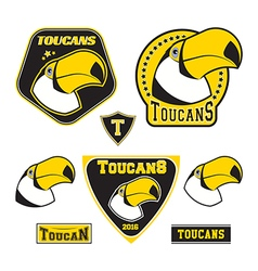 Set of toucan logotypes vector image vector image
