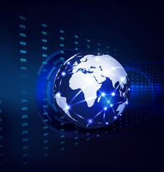 Technology futuristic circuit digital background vector image