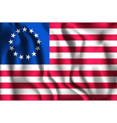 American Betsy Ross Flag Rectangular Shaped vector image vector image