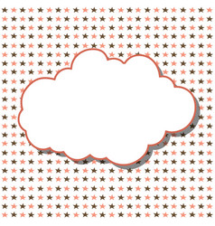 cloud frame seamless pattern with stars on white vector image vector image