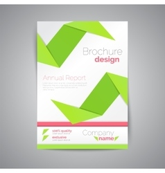 Geometric brochure A4 Origami style Material vector image vector image