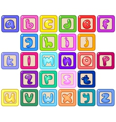 lower case alphabet blocks vector image vector image