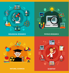 science and research banners vector image vector image
