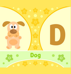 The english alphabet with dog vector