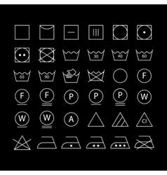 White washing symbols vector image vector image